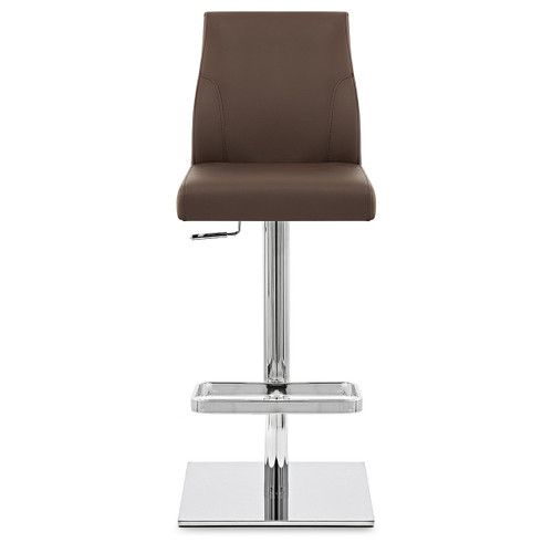 Malibu Real Leather Stool in Brown
