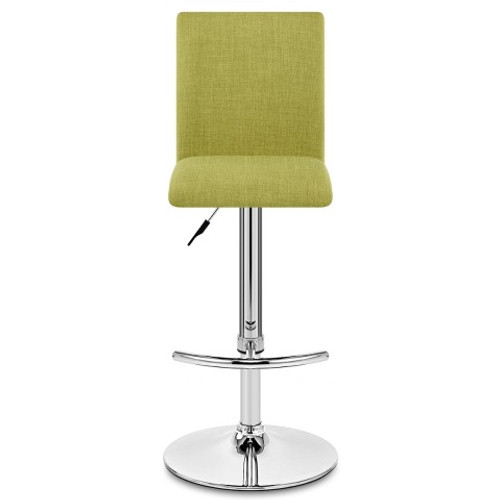Luxembourg Fabric & Chrome Bar Stool - Lime