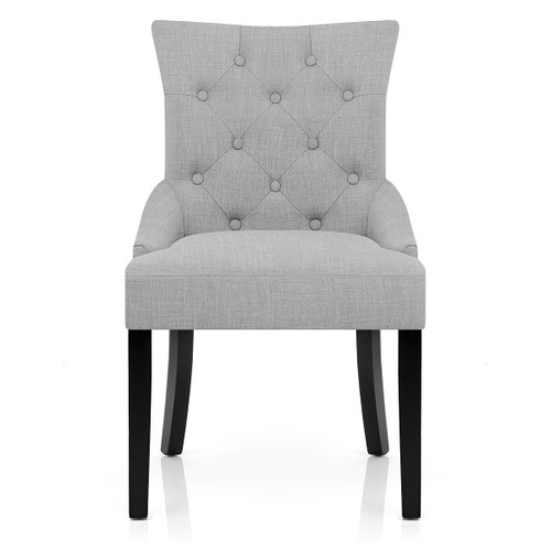 Victoria Fabric Dining Chair - Grey