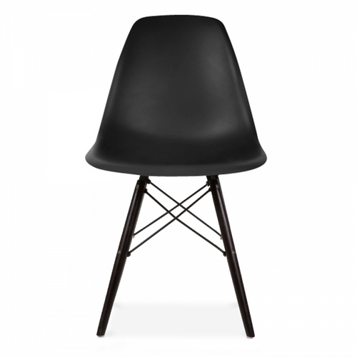 Plastic Scandi Dining Chair in Double Black