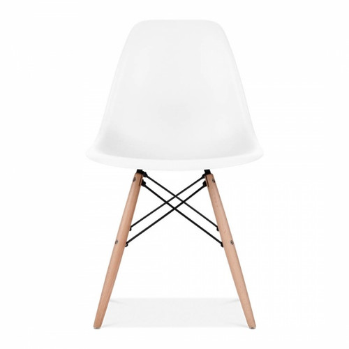 Plastic Scandi Dining Chair in White