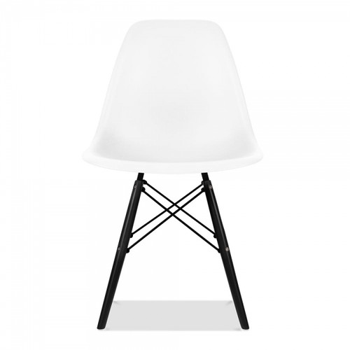 Plastic Scandi Dining Chair in Black & White