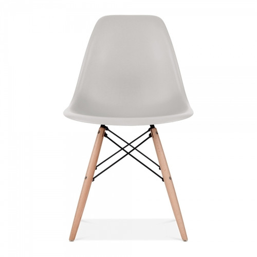 Plastic Scandi Dining Chair in Light Grey