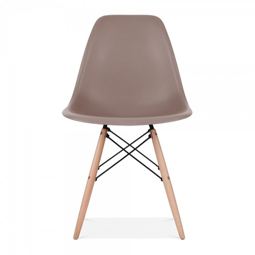 Plastic Scandi Dining Chair in Brown