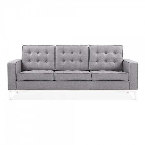 La Rondé Grey Fabric 3 Seat Sofa