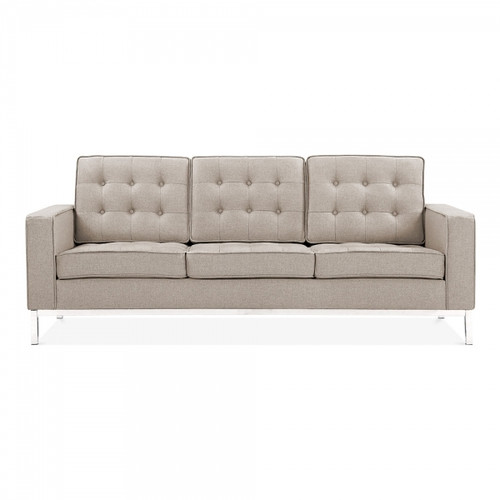 La Rondé Cream Fabric 3 Seat Sofa