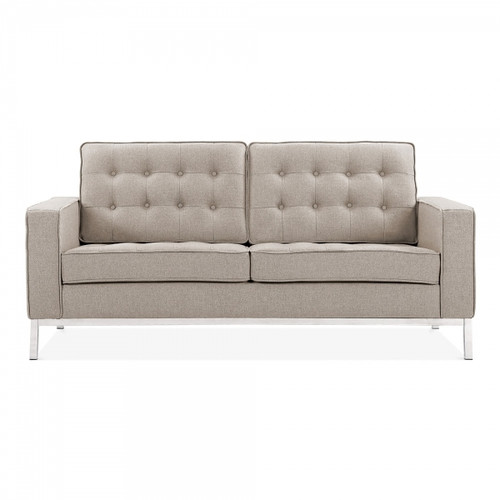La Rondé Cream Fabric 2 Seat Sofa