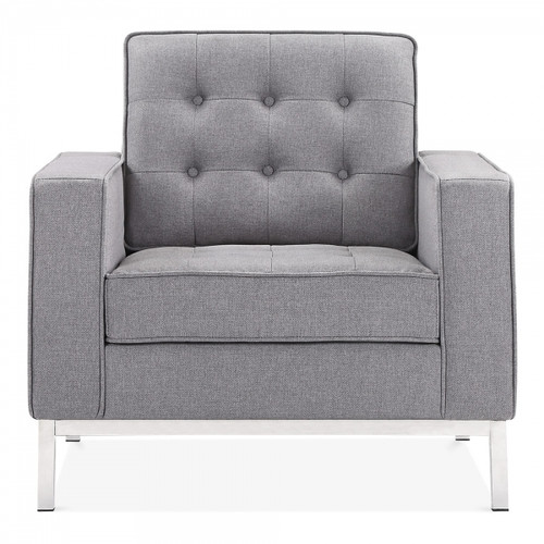 La Rondé Grey Fabric Armchair