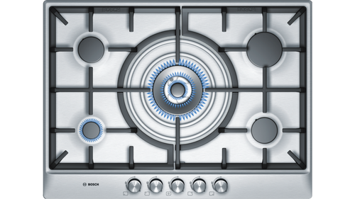 BOSCH PCQ715B90E Stainless Steel Gas Hob