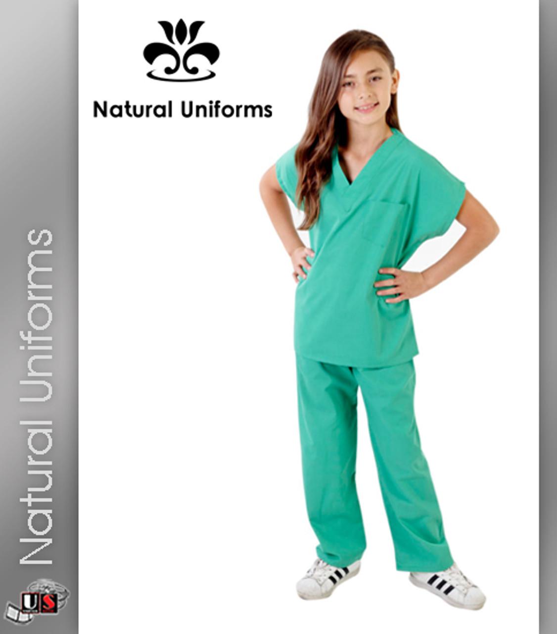 1b584543077 Natural Uniforms Childrens Unisex Solid Scrubs Set - wholesaleuniforms.info