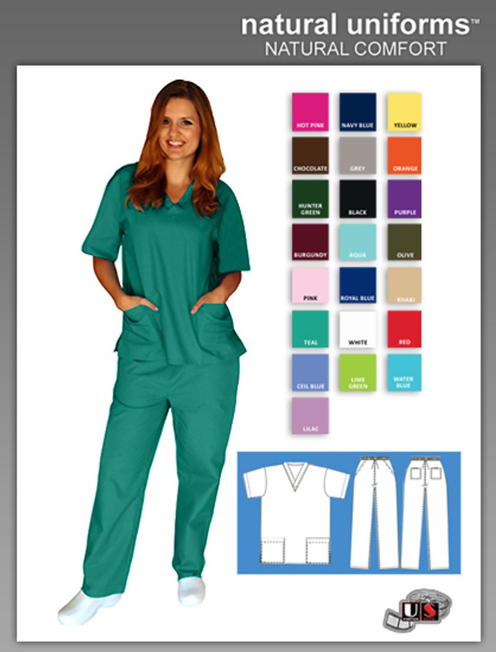 73469f2db07 Natural Uniforms Two Piece Scrub Suit (Special) - wholesaleuniforms.info