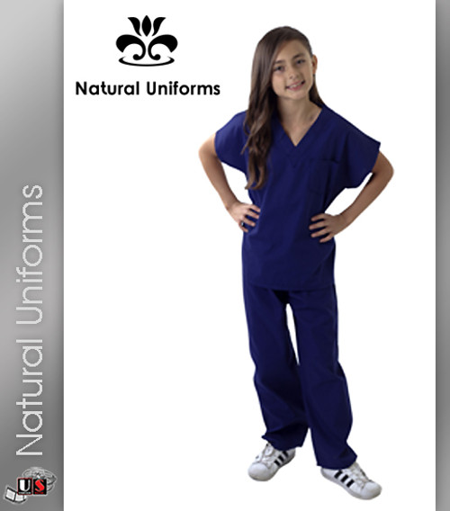 9e5bf29e2b0 ... Natural Uniforms Childrens Unisex Solid Scrubs Set