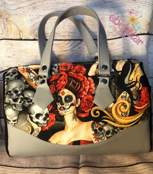 Rockabilly Barrell Bag - Large Dia de los Muertos