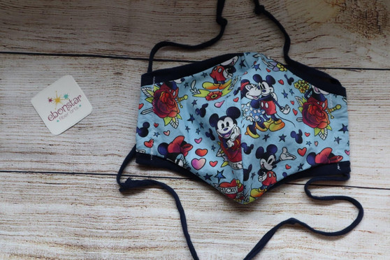 Tattoo Mouse Fabric Mask - Adult Medium, Ready to Ship