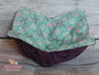 Floral Dark Purple and Mint Green with pink, purple, and cream crosses