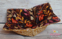 Golden Wheat and Fall Leaves on dark maroon