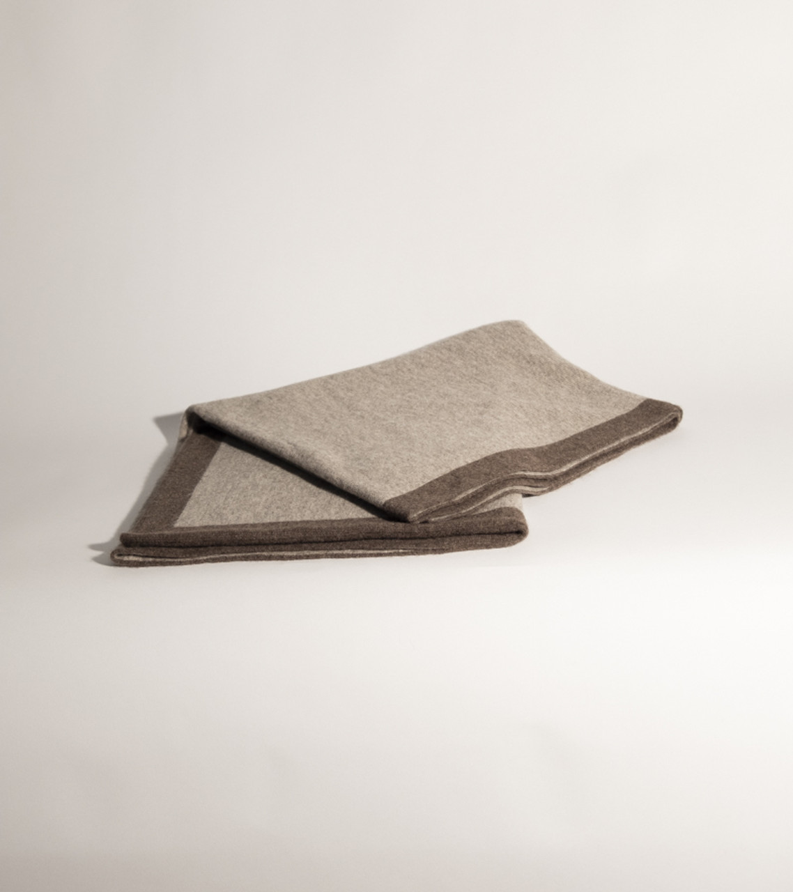 Platinum/Dark Grey Reversible Jersey Knit Yak Down Poncho