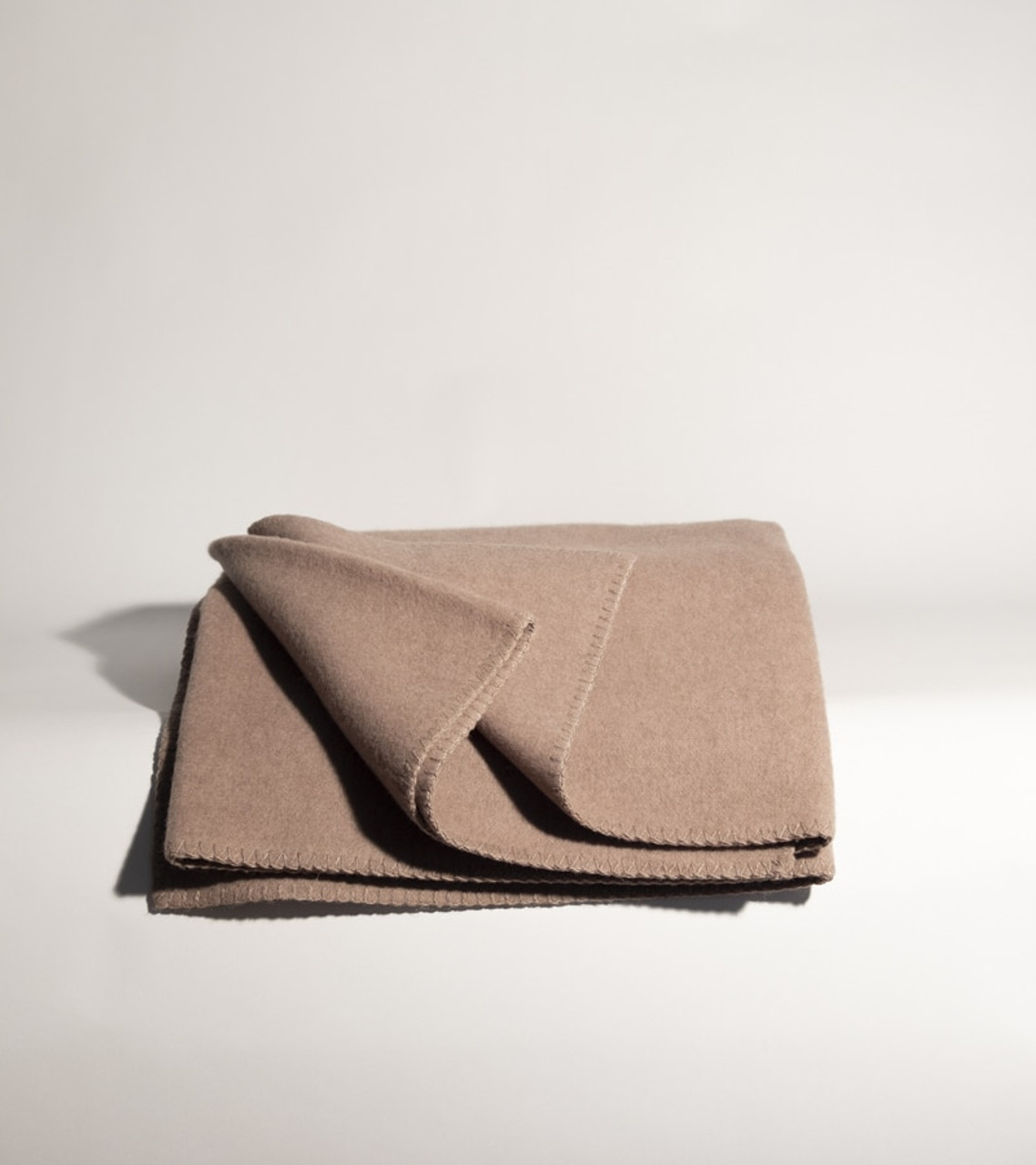 Heavy Tan Cashmere and Wool Blanket