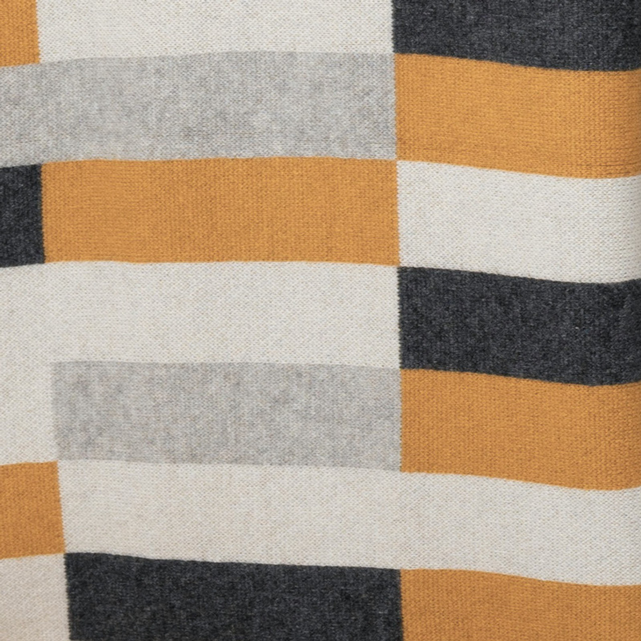 Bauhaus Gold, Grey, Charcoal and White Cashmere Throw