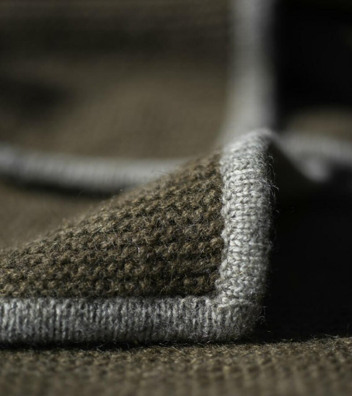 Cappuccino & Platinum Purl Knit Yak Down Throw