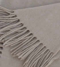 Soft Tan Cashmere Throw