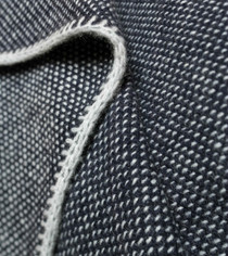 Dark Navy Bird's Eye Knit Cashmere Throw