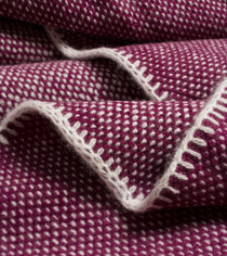 Black Currant Bird's Eye Knit Cashmere Throw