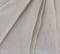 Cream Diamond Lattice Knit Throw