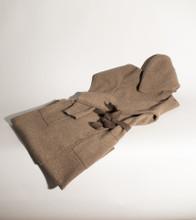Jacquard Knit Yak/Camel Down Hoody