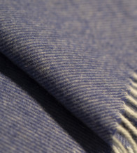 Dark Slate Blue & White Cashmere Throw