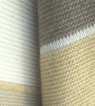Striped Cashmere Throw in Natural Tones