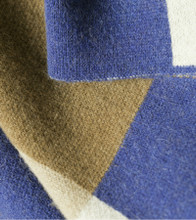 Bauhaus Blue & Cream Camel Down Throw