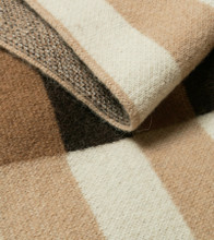 Bauhaus Chocolate, Tan, Beige and Cream Camel Down Throw