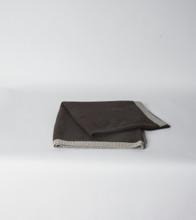 Chocolate & Platinum Rice Knit Poncho