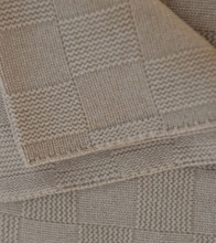 Tan Large Lattice Knit Cashmere Throw