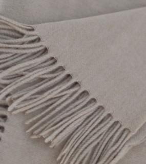 Soft Tan Cashmere Throw
