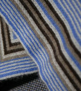Jacquard Knit Bright Blue Throw