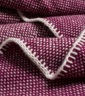 Black Currant Bird's Eye Knit Cashmere Throw