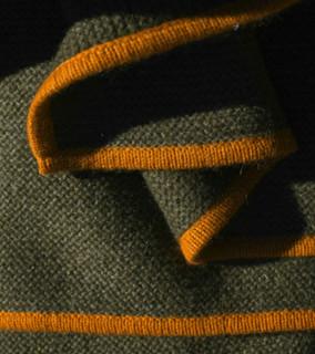 Cappuccino & Orange Pepper Purl Knit Yak Down Throw