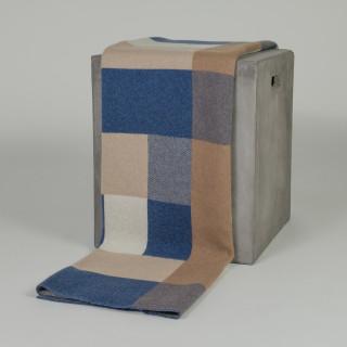 Bauhaus Blue & Cream Camel Down Throw