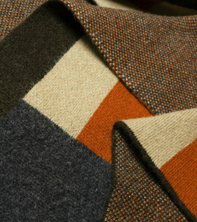 Bauhaus Rust, Brown, Tan & Grey Camel Down Throw