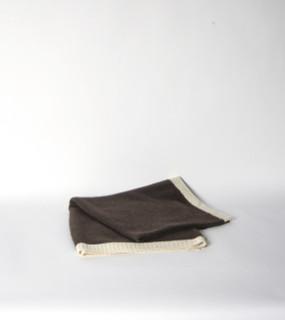 Chocolate & Cream Rice Knit Poncho