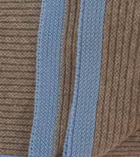 Platinum & Sky blue Ribbed Knit Yak Down Throw