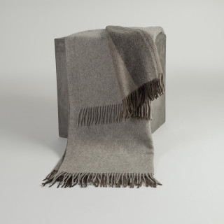 Platinum, Cappuccino & Chocolate Woven Yak Down Throw