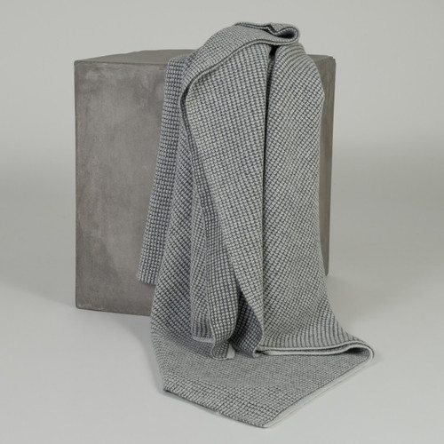 Derby Grey & Light Grey Cashmere Waffle Knit
