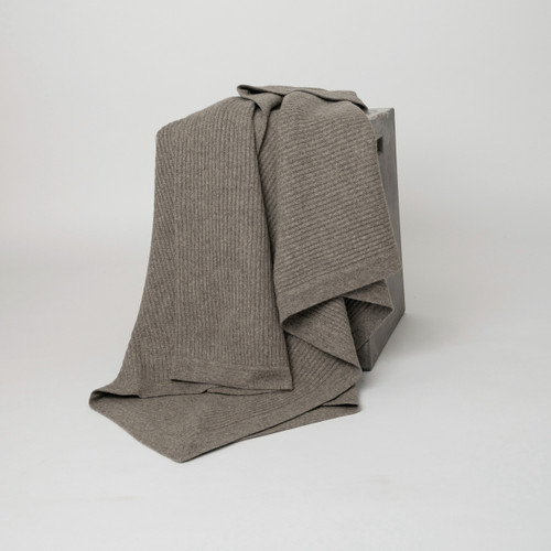 Platinum Yak Fisherman's Knit Throw