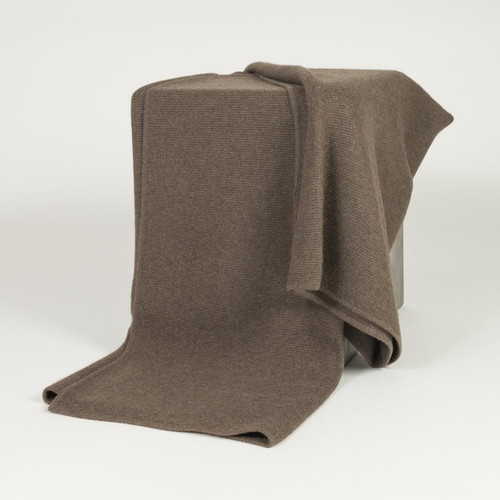Solid Cappuccino Purl Knit Yak Down Throw