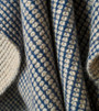 Dark Denim & Organic Brown Cashmere Waffle Knit