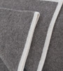 Platinum & White Purl Knit Yak Down Throw