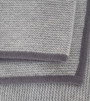 Light grey & Stone Grey Purl Knit Cashmere Throw